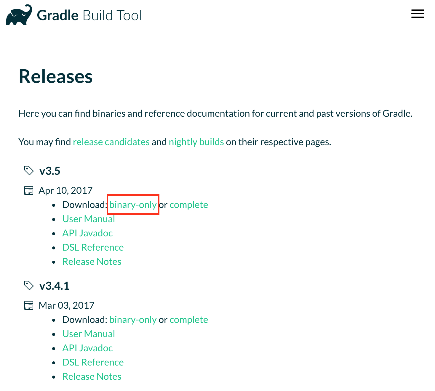 Gradle download