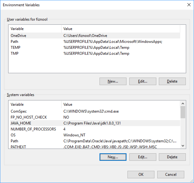 Windows new environment variable